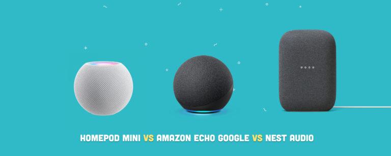 HomePod Mini vs. Amazon Echo vs Google Nest Audio